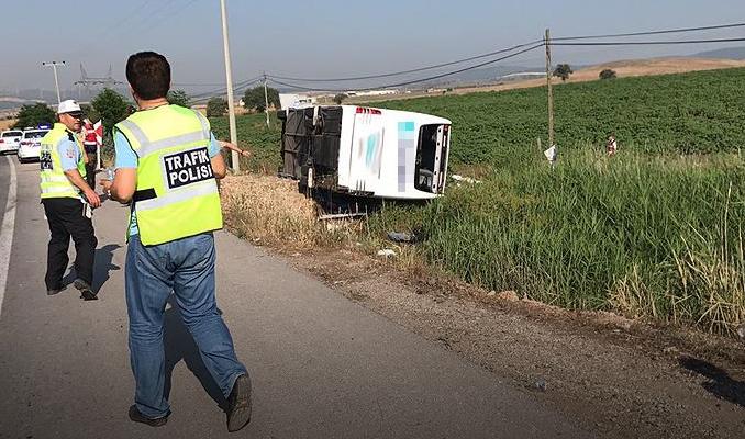 Balıkesir'de yolcu otobüsü kaza yaptı: 1 ölü