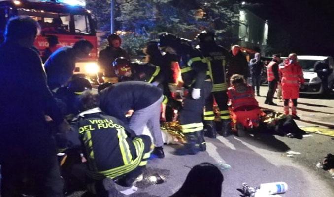 İtalya'da Gece Kulübünde İzdiham çıktı: 6 ölü, 100'den fazla yaralı