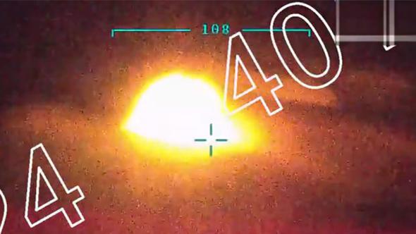Afrin'e silah taşıyan terör örgütü konvoyu vuruldu