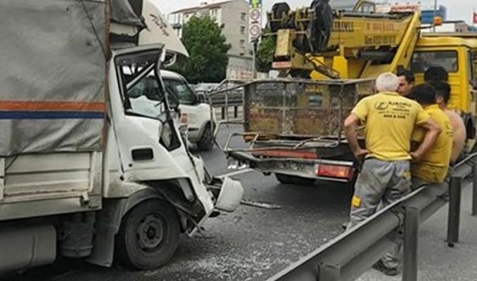 E-5'te trafik kazası