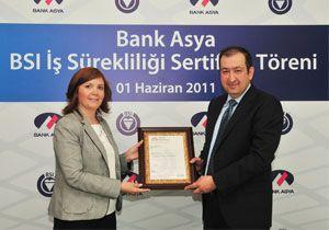 Bank Asya, BSI'den sertifika aldı