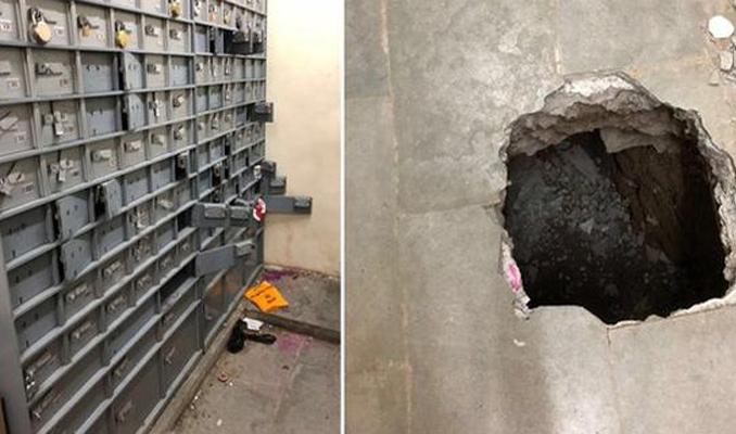 Hırsızlar bankayı tünel kazarak soydu