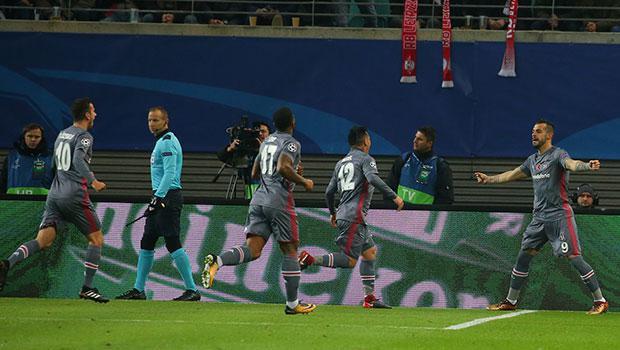 Beşiktaş Leipzig'i 2-1'le geçerek tarih yazdı