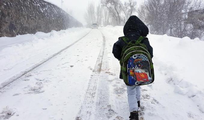 Artvin'de okullara kar tatili
