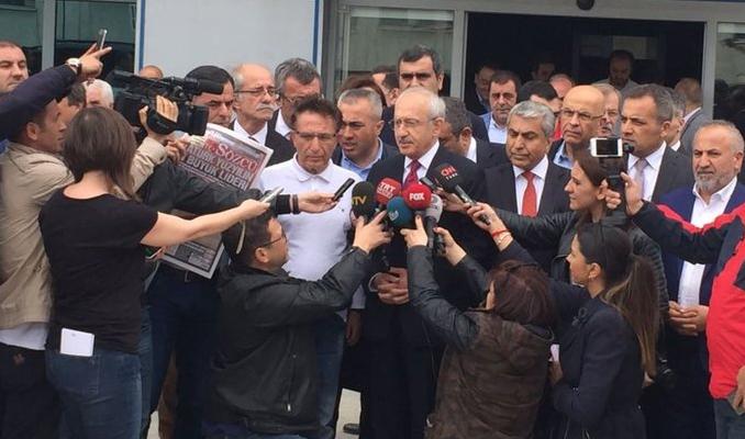 Kılıçdaroğlu Sözcü'yü ziyaret etti