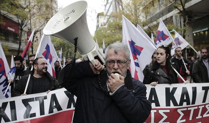 Yunanistan'da basın emekçileri grev yaptı