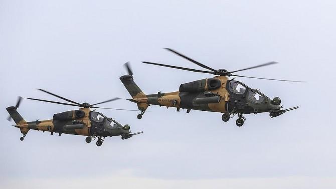 Türk helikopterleri NATO zirvesinde