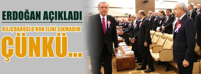 Erdoğan Kılıçdaroğlu'nun elini neden sıkmadı?