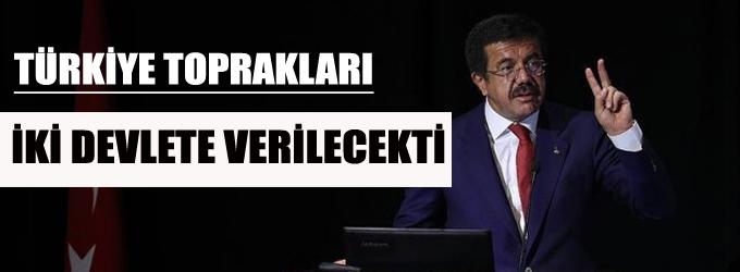 Zeybekci: Türkiye toprakları iki devlete verilecekti