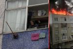 Çatı alev alev yanarken evinden çıkmadı