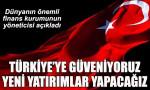 IFC: Türkiye'ye güveniyoruz