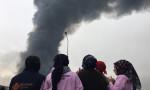 Arnavutköy'de korkutan fabrika yangını