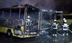 3 halk otobüsü yandı