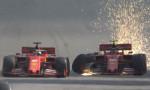 Formula 1'de kaza! 2 Ferrari birbiriyle çarpıştı