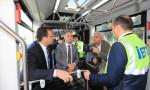 İmamoğlu yerli üretim metrobüsü test etti