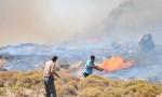 Bodrum'da yangın! Alevler yerleşim yerlerine yaklaştı