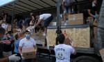 Türkiye'den Sancak bölgesine giden yardımlar ulaştı