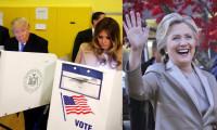 Clinton ve Trump oylarını kullandı