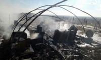 Çadır kentte yangın çıktı!