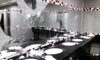 Fenerbahçeli taraftarlar Torku Arena'yı paramparça etti