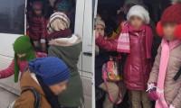 Sivas'ta okul servisinde balık istifi seyahat