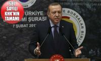 Erdoğan'ın iş adamlarına verdiği müjdenin ayrıntıları yeni KHK'da