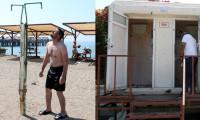 Antalya'nın ünlü halk plajında çirkin görüntüler...