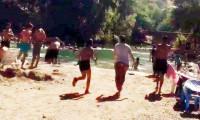 Pülümür sahilinde terör paniği