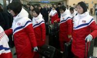 Kuzey Kore buz hokey takımı Güney Kore'ye geldi