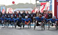 İstanbul Maratonu'nda tekerlekli sandalye startı verildi