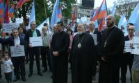 Arjantinli Ermeniler Erdoğan'ı protesto etti