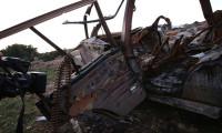 Türk tankı Afrin'de mühimmat kamyonunu böyle vurdu!