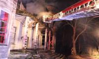 Beykoz'da ahşap yapı yangında hasar gördü