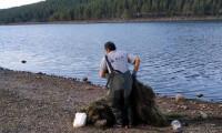 Seben Göleti'nden 500 metrelik 'hayalet ağ' çıktı