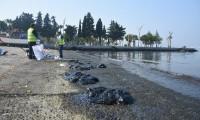 Aliağa'da petrol sızıntısı, sahilde kirliliğe neden oldu