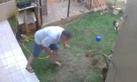 Hamam böcekleriyle savaşırken bahçesinden oldu