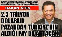 Ateş: Türkiye'nin 2.3 trilyon dolarlık sektörden aldığı pay artacak
