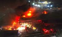 Düzce'deki fabrikada korkutan yangın