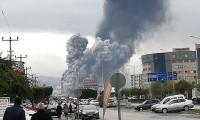 Hatay'da bir fabrikada korkutan patlama