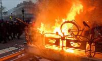 Fransa'da hayat durdu! Her yer yangın yerine döndü...