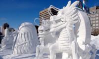 Japonya'daki Kar Festivali'nden muhteşem görüntüler