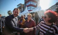 Bakan Albayrak, Sarıyer'de esnaf ziyaretinde bulundu