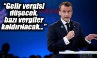 Macron'dan sarı yeleklilerin taleplerine yanıt: Gelir vergisi düşüyor