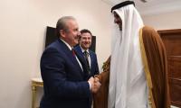 TBMM Başkanı Şentop Katar Emiri ile görüştü
