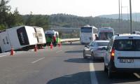 Ümraniye TEM Bağlantı Yolunda otobüs kazası