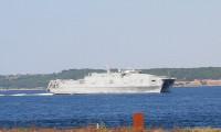 ABD Donanması'na ait gemi Çanakkale Boğazı'ndan geçti