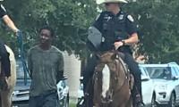 Siyah adamı ipe bağlayıp yürüten Teksas polisi özür diledi