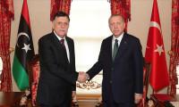 Erdoğan Libya UMH Başkanı Serrac'ı kabul etti