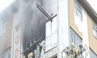 Güngören'de patlama sonrası yangın paniği