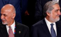 Afganistan'da rakip cumhurbaşkanlarından iki farklı yemin töreni
